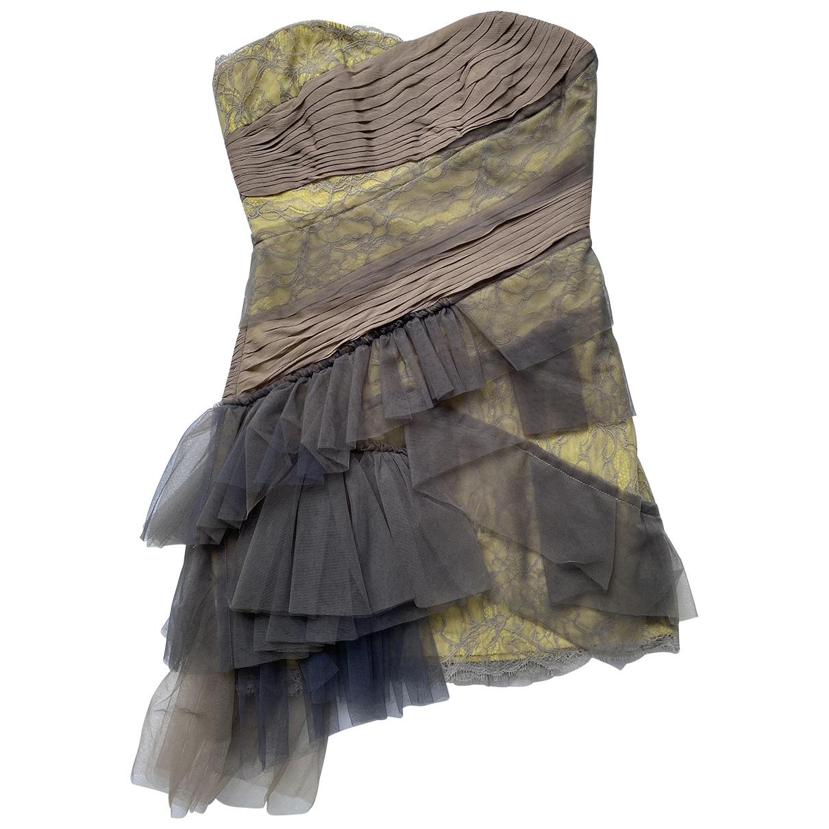 Bcbg Max Azria \N Kleid in  Khaki Spitze