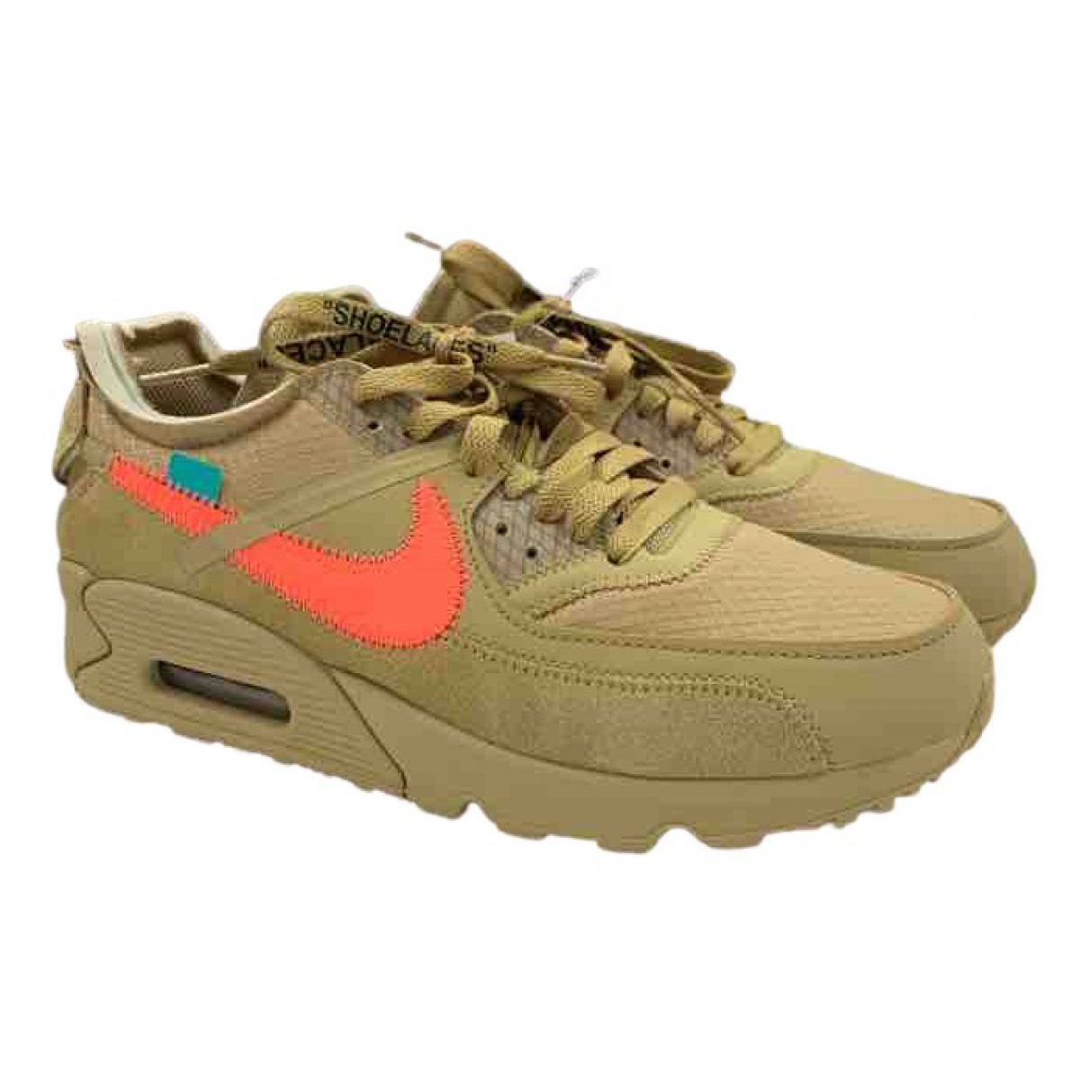 Nike X Off-white Air Max 90 Sneakers in  Braun Leinen
