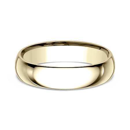 Mens 10K Yellow Gold 5MM Comfort-Fit Wedding Band, 11 1/2 , No Color Family