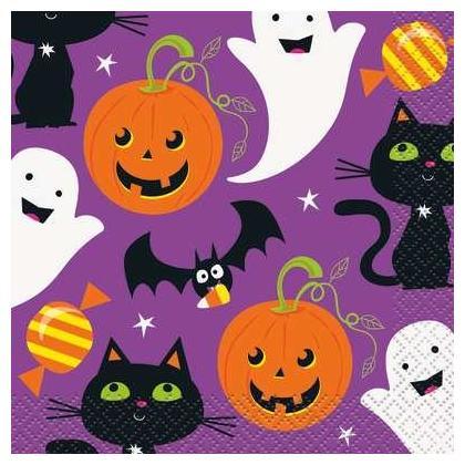 Serviettes de table Cat & Pumpkin 16pièces/paquet
