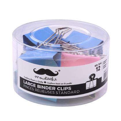 Assorted Color Large Binder Clips, 2