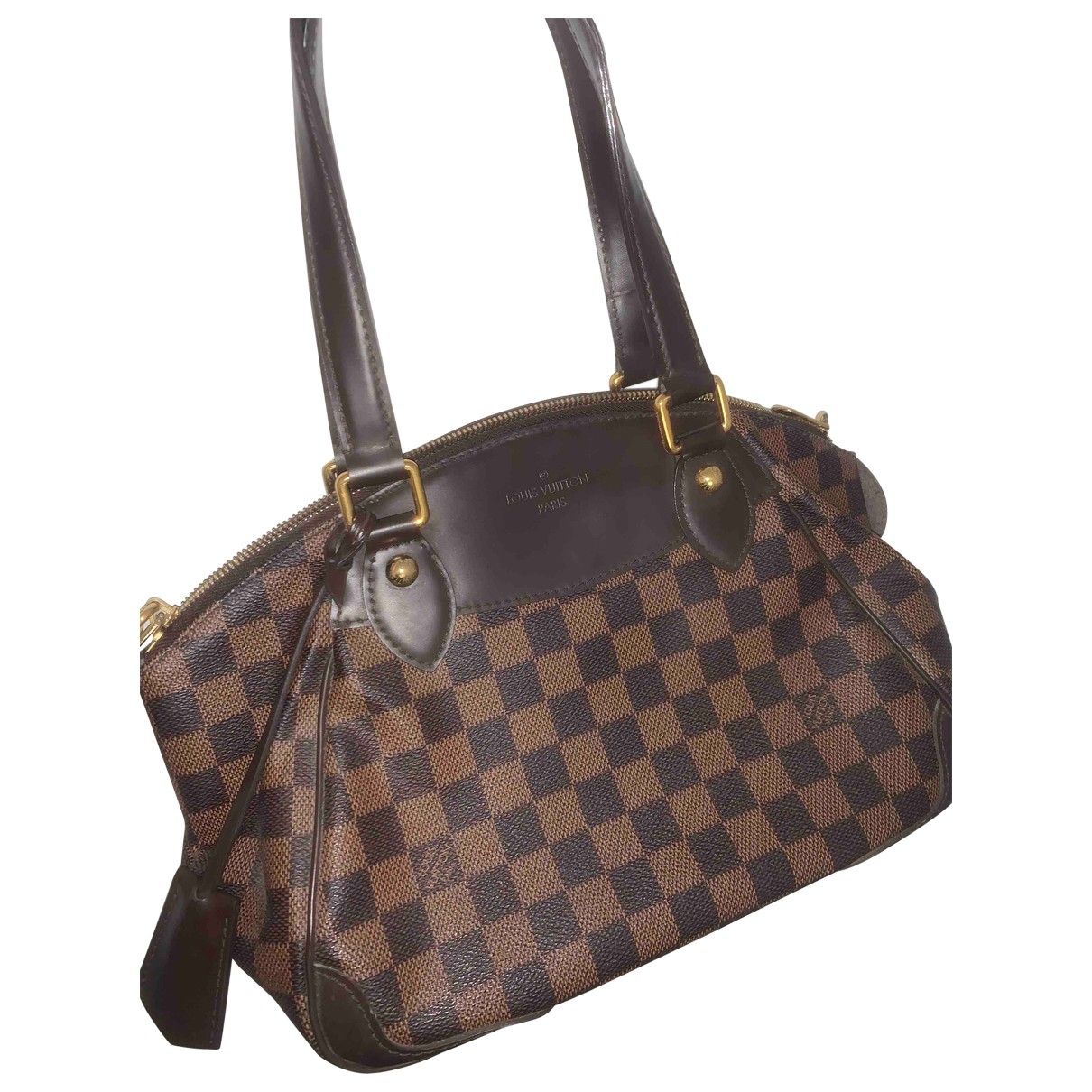Louis Vuitton Verona Handtasche in  Braun Leinen