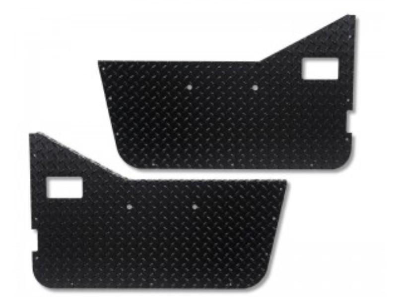 Warrior Products S90755 Half Door Inserts Smooth Black Finish Jeep CJ7 76-86