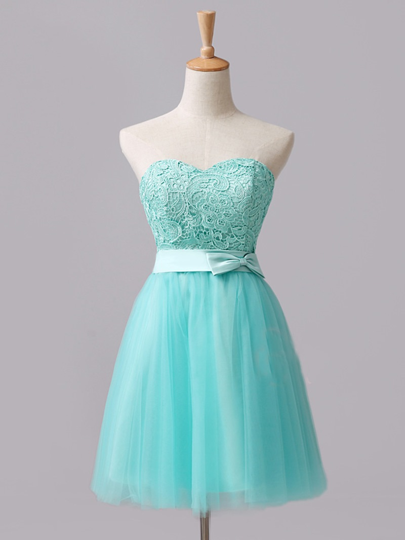 Ericdress Sweetheart Bowknot Lace Bridesmaid Dress