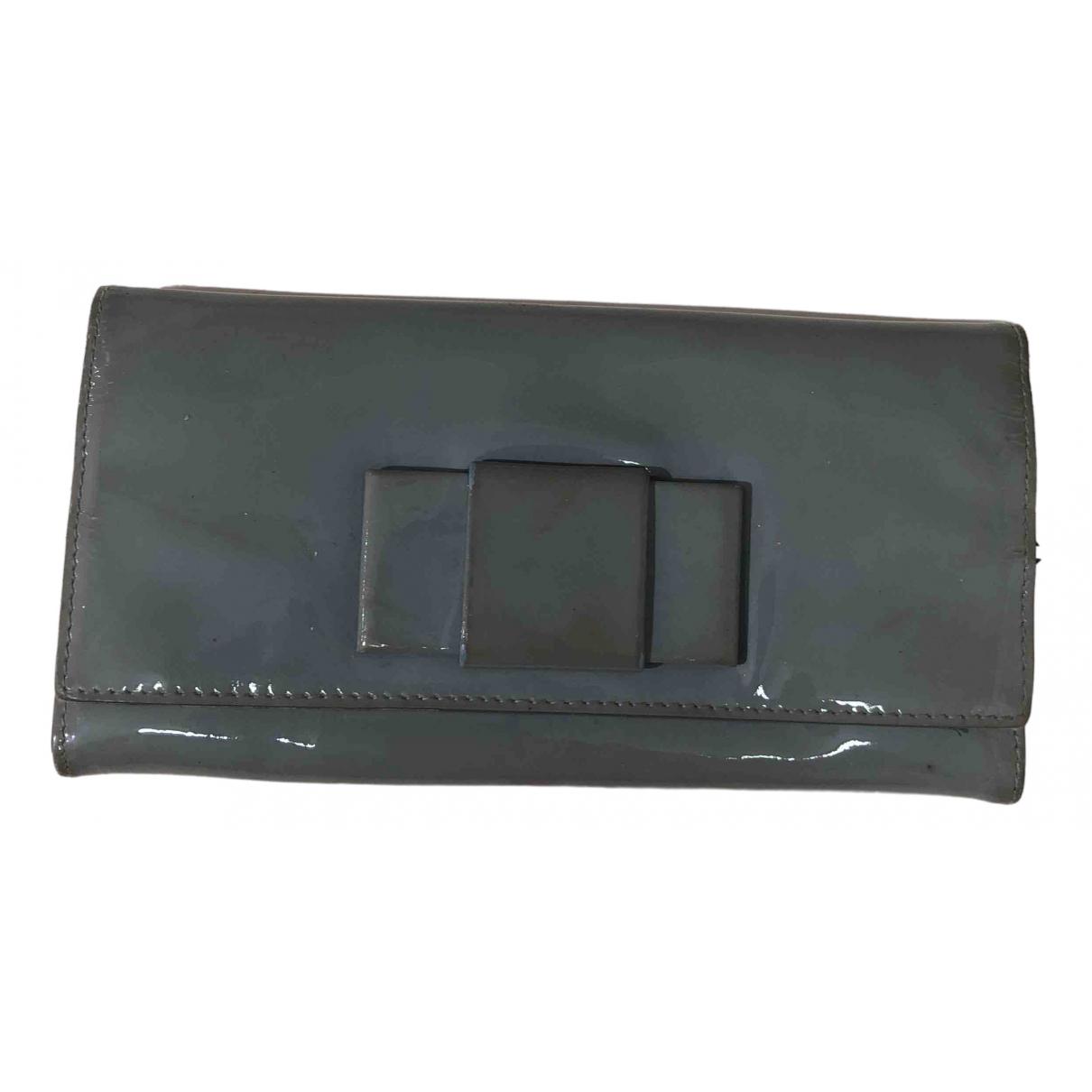 Miu Miu - Portefeuille   pour femme en cuir verni - gris