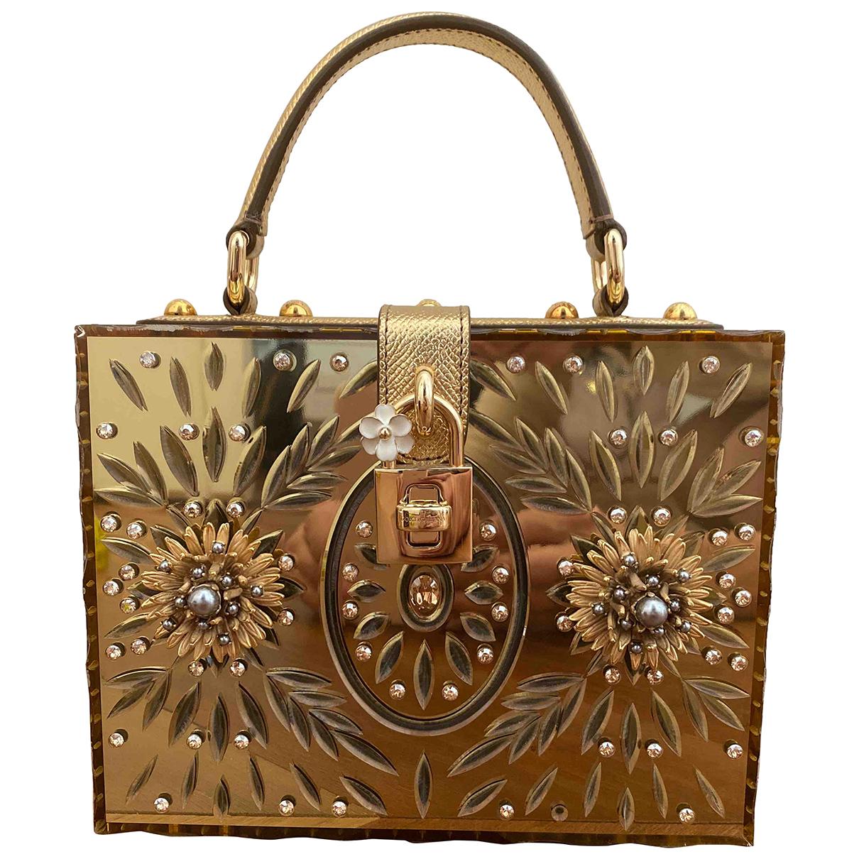 Dolce & Gabbana \N Handtasche in  Gold Kunststoff