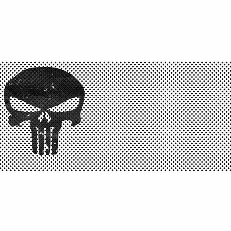Jeep Gladiator Grill Inserts 2020-Present Gladiator Punisher White Black Skull Under The Sun Inserts INSRT-PUNWTHBLKSK-JT