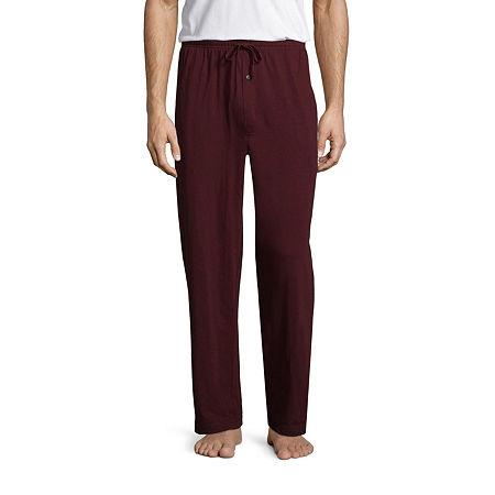 Stafford Men's Knit Pajama Pants - Big and Tall, Xx-large Tall , Red