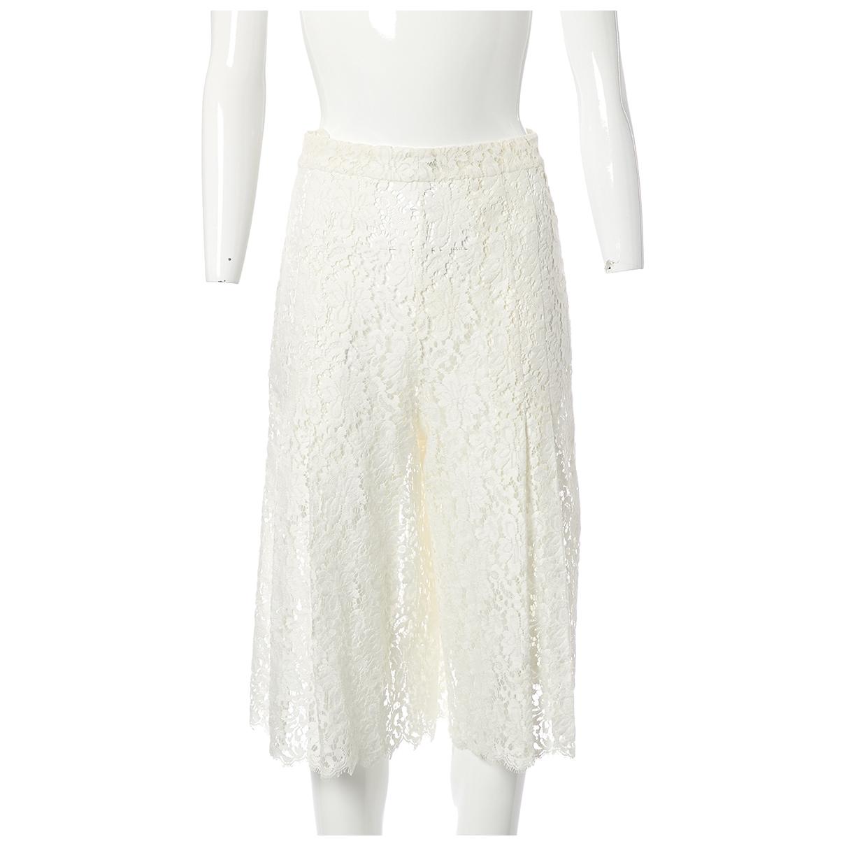 Chanel - Short   pour femme en coton - ecru