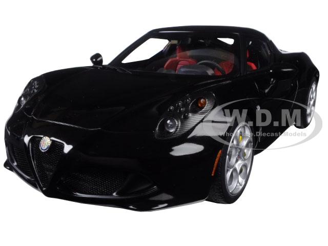 Alfa Romeo 4C Gloss Black 1/18 Model Car by Autoart
