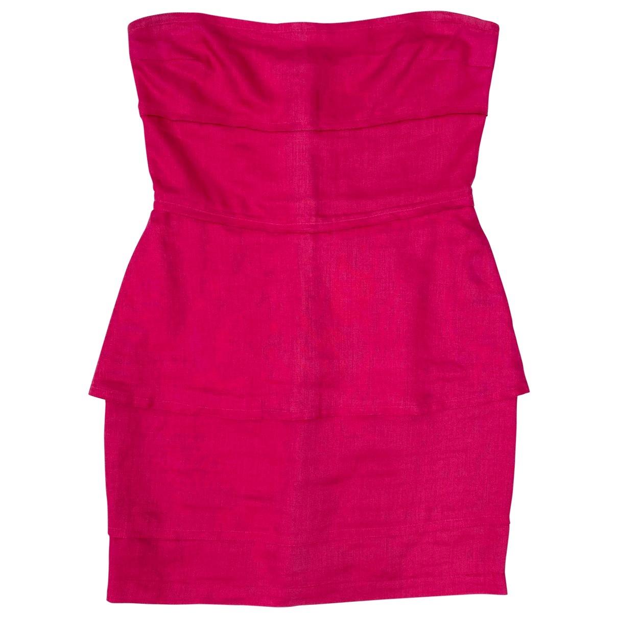Genny - Robe   pour femme en lin - rose