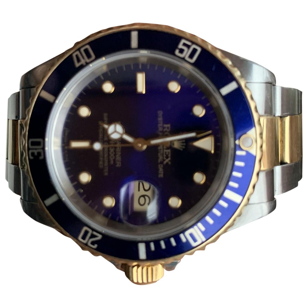 Rolex - Montre Submariner pour homme en or et acier - marine