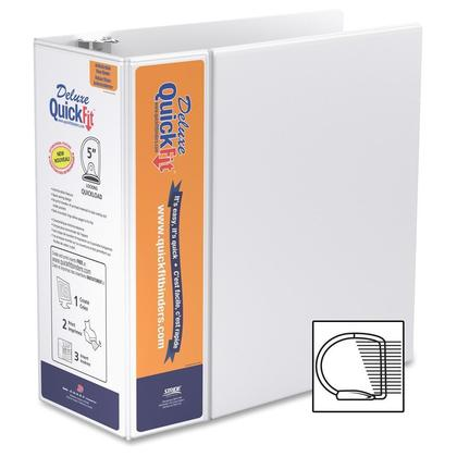 QuickFit@ Deluxe Heavy-Duty Antimicrobial Presentation Binder (1