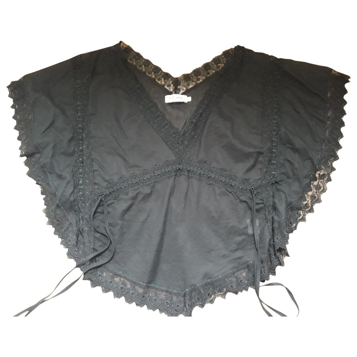 Charo Ruiz - Top   pour femme en coton - noir