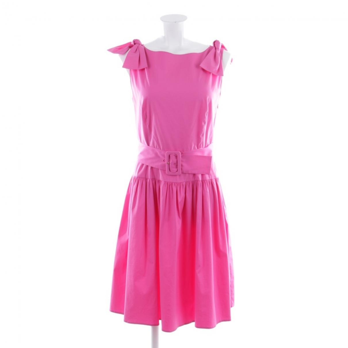 Prada \N Kleid in  Rot Baumwolle