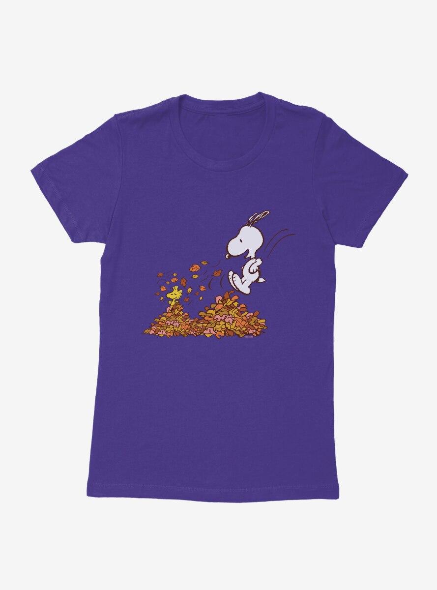 Peanuts Snoopy And Woodstock Fall Fun Womens T-Shirt