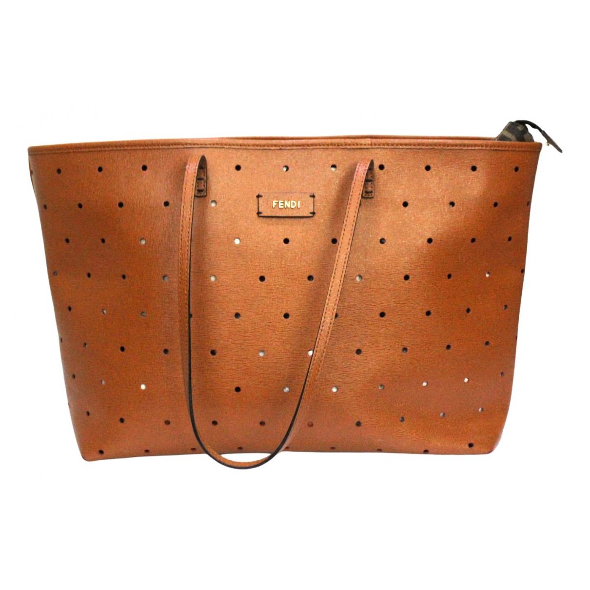 Fendi Roll Bag  Handtasche in  Braun Leder
