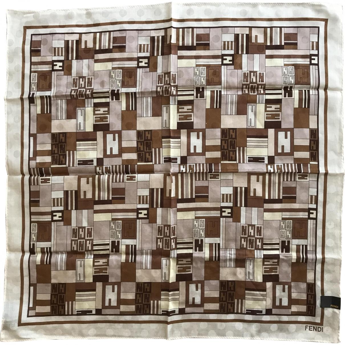 Fendi \N Multicolour Cotton scarf for Women \N