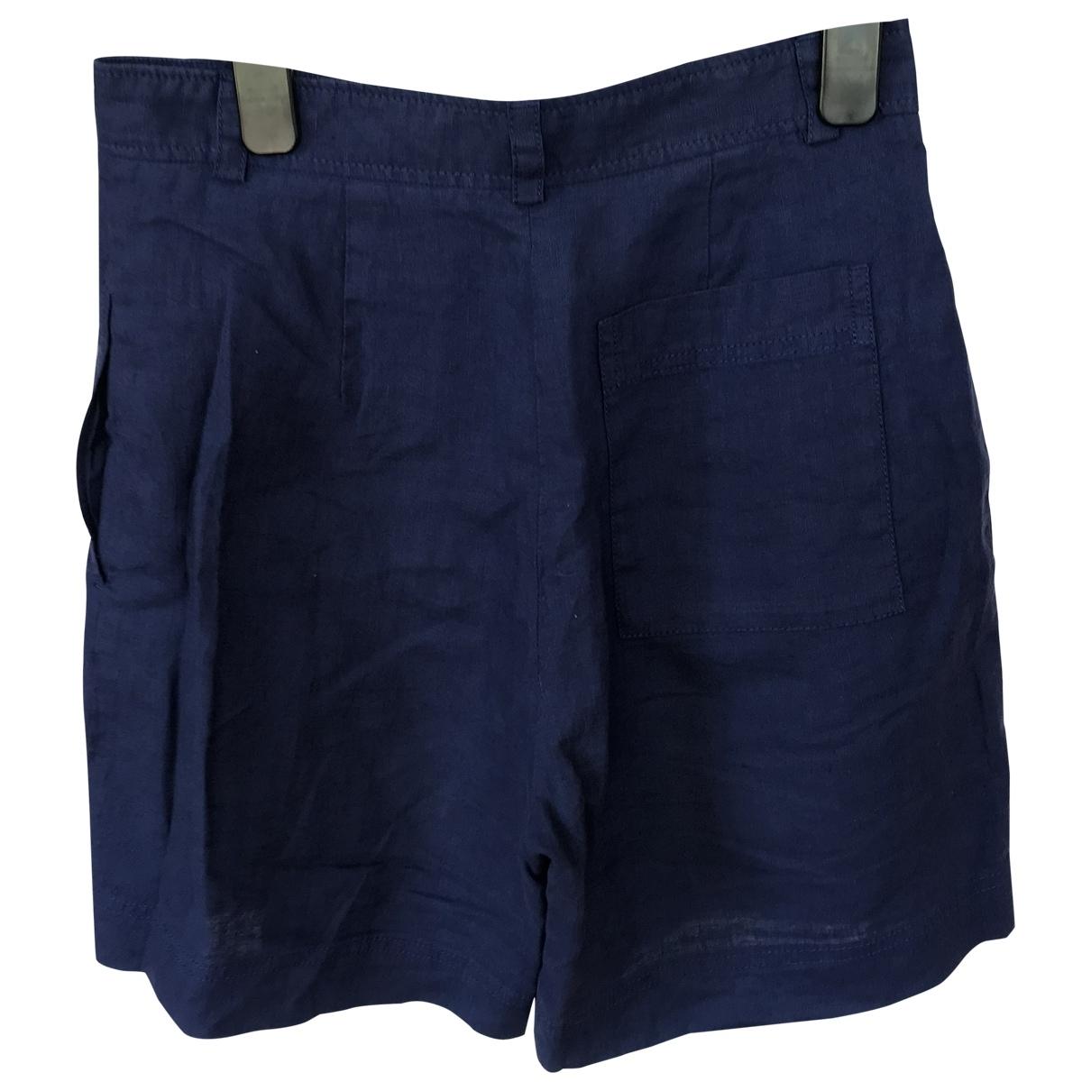 Lk Bennett - Short   pour femme en toile - bleu