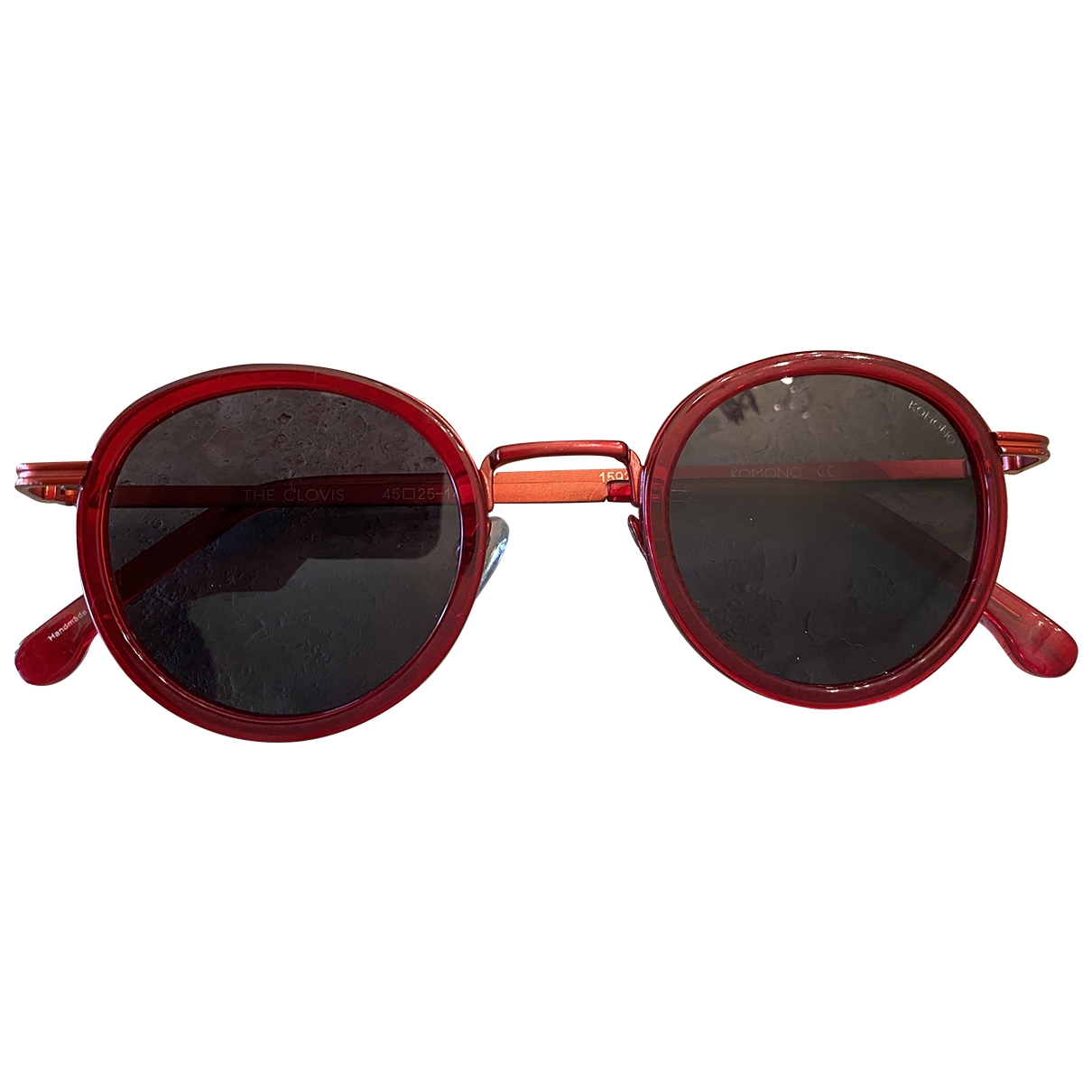 Komono \N Red Metal Sunglasses for Women \N