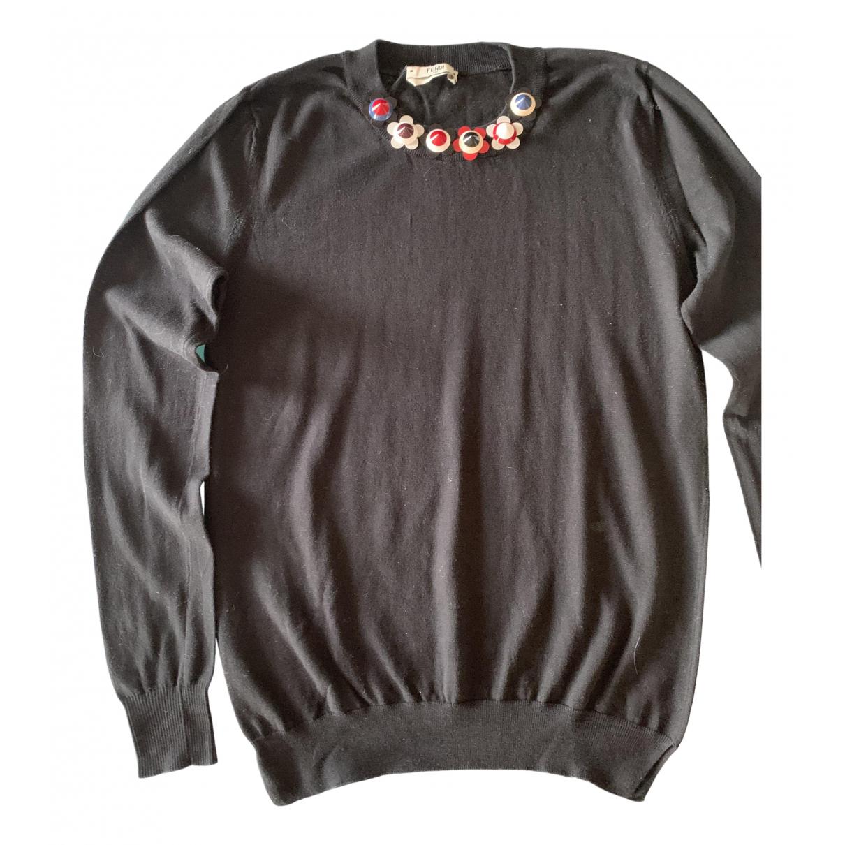 Fendi \N Black Cotton Knitwear for Women 38 IT
