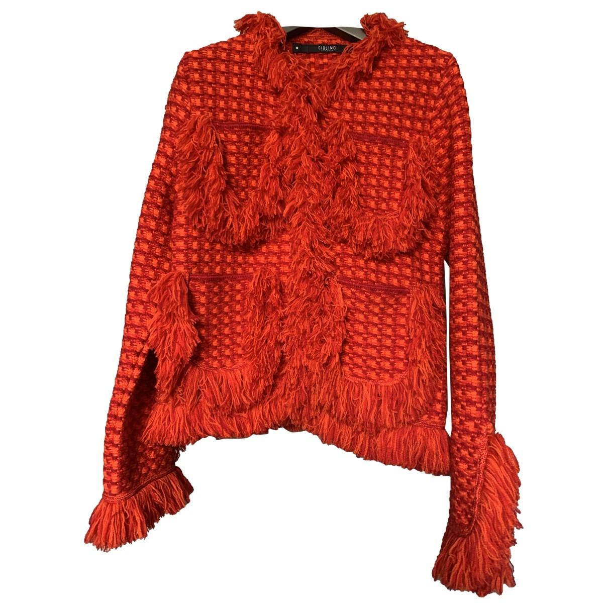 Sibling \N Jacke in  Rot Wolle