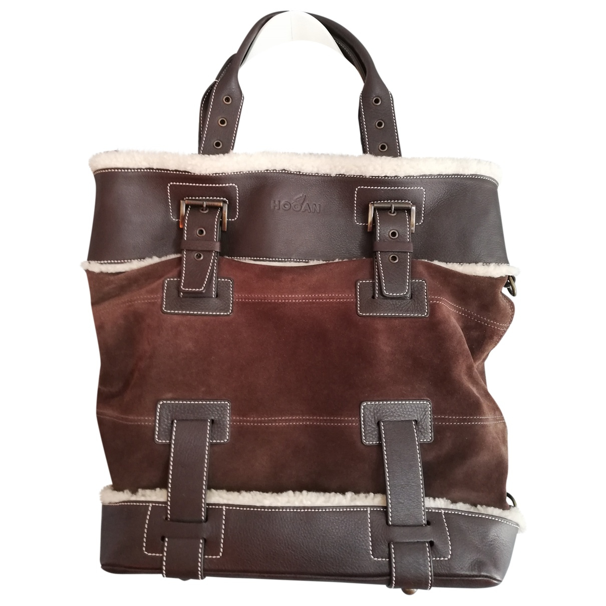 Hogan N Brown Leather handbag for Women N