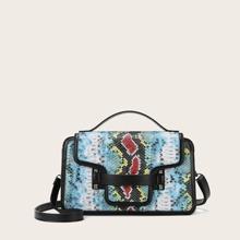 Tasche mit Schlangenleder Muster
