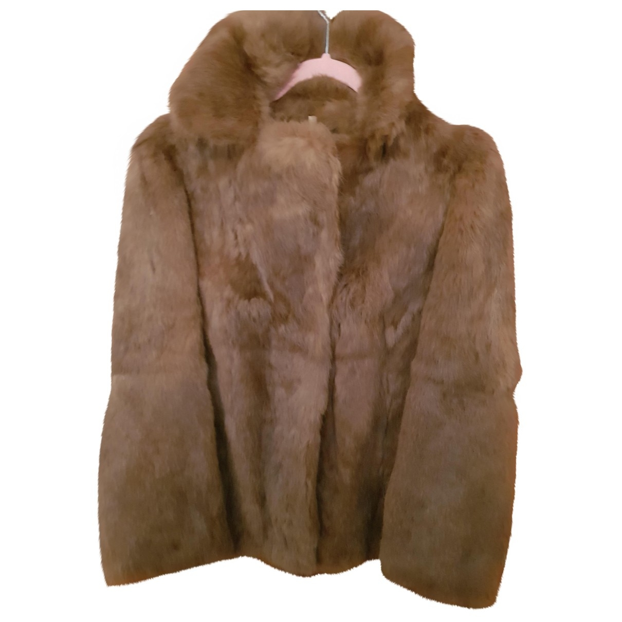 Non Signé / Unsigned \N Brown Rabbit jacket for Women 12 UK