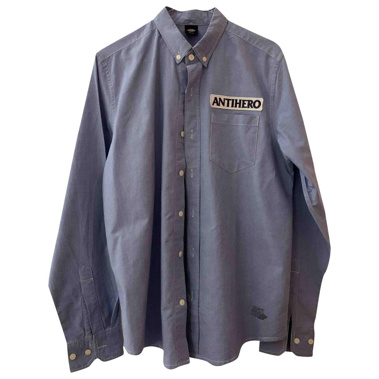 Dickies \N Hemden in  Blau Baumwolle