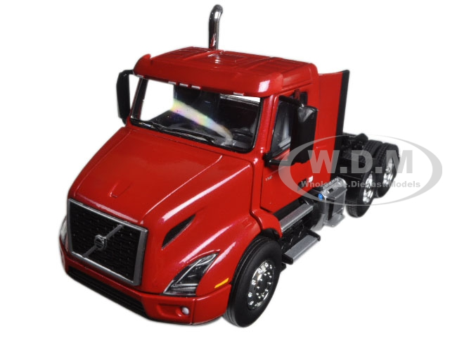 Volvo VNR 300 Day Cab Cherry Bomb Red Metallic 1/50 Diecast Model Car by First Gear