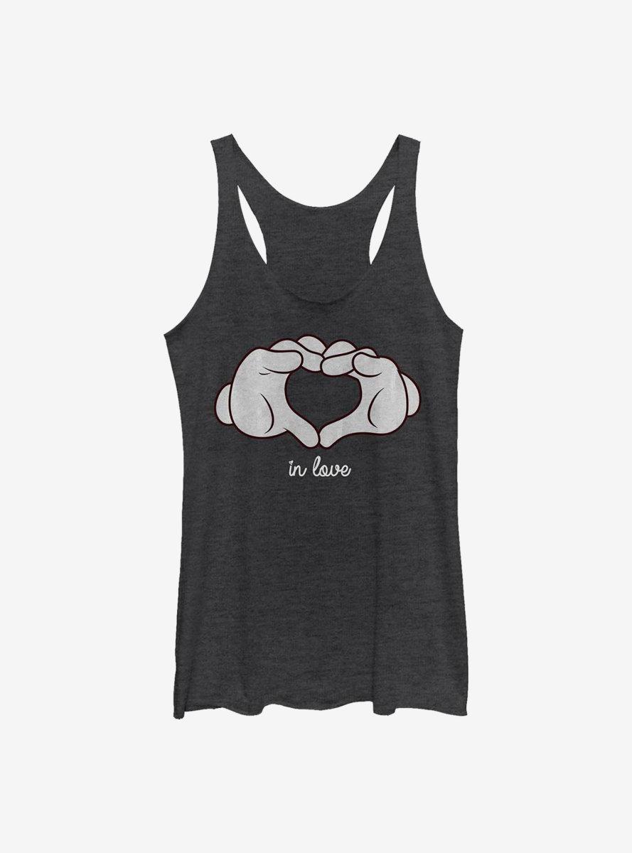 Disney Mickey Mouse Glove Heart Womens Tank Top
