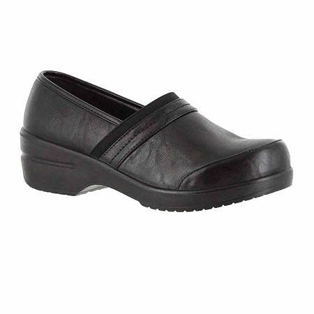 Easy Street Womens Origin Clogs, 11 Wide, Black