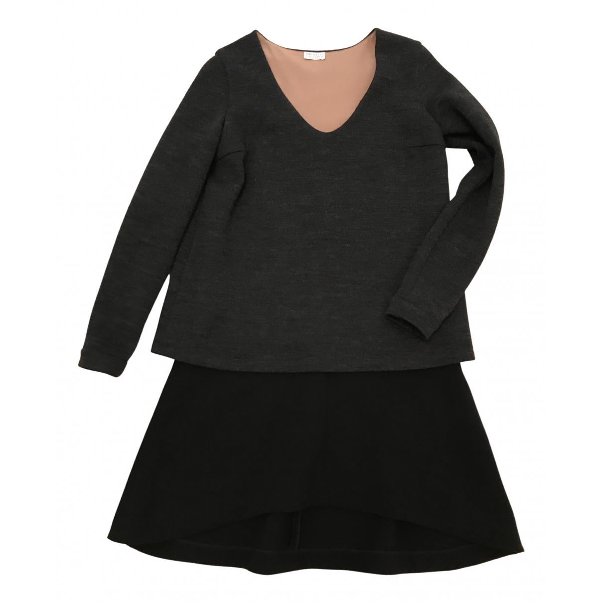 Brunello Cucinelli \N Kleid in  Anthrazit Wolle