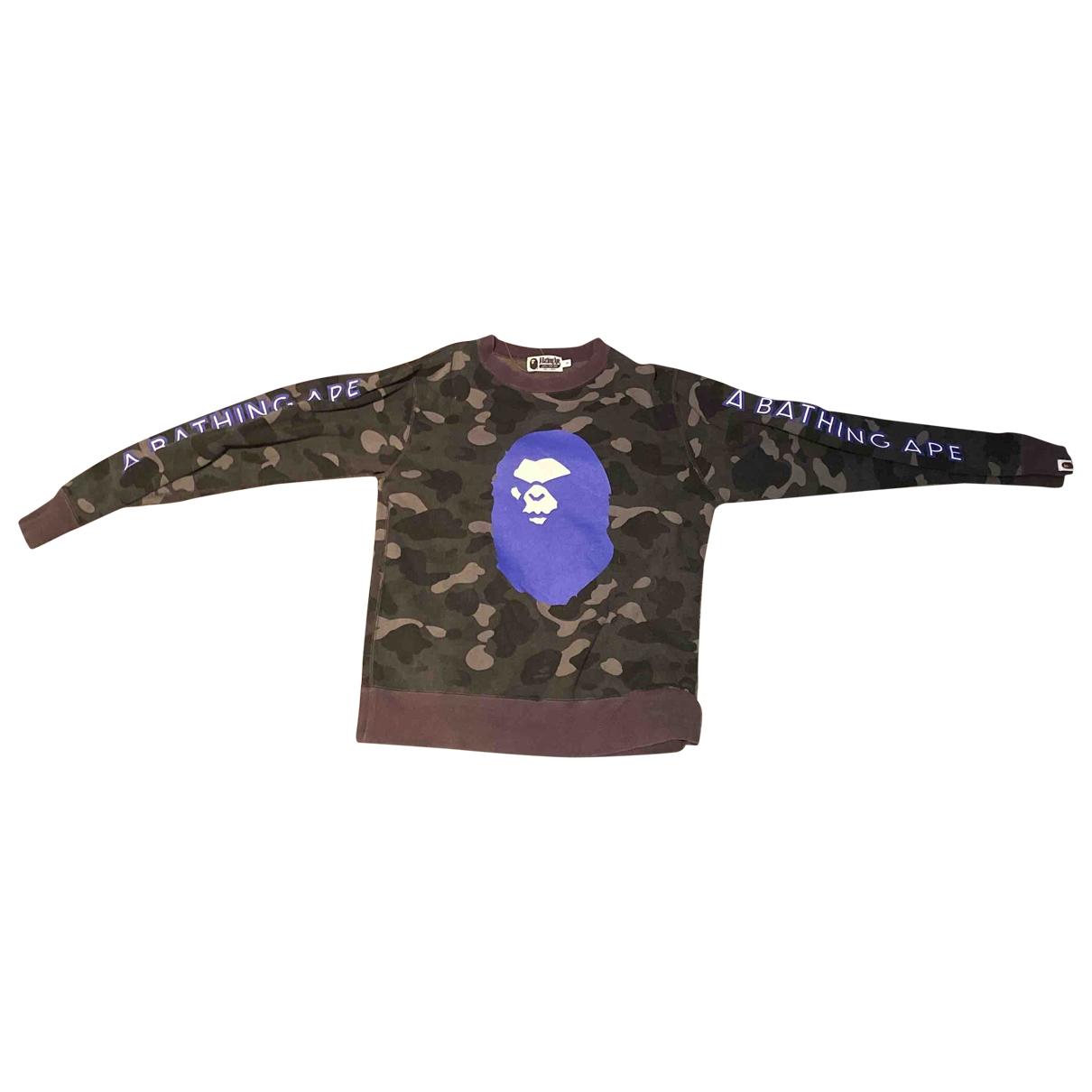 A Bathing Ape \N Pullover.Westen.Sweatshirts  in  Grau Baumwolle