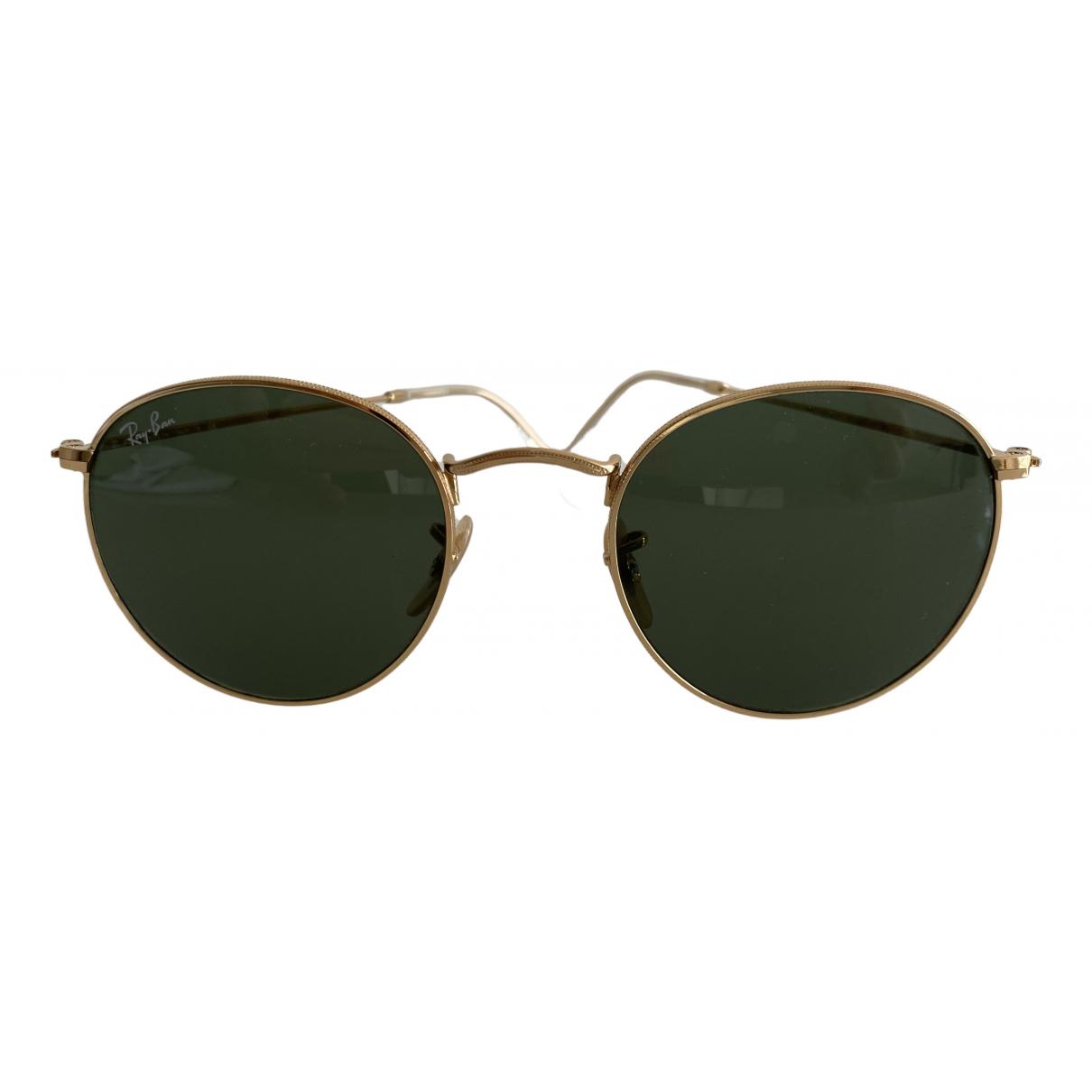 Ray-ban Round Sonnenbrillen in  Gruen Metall