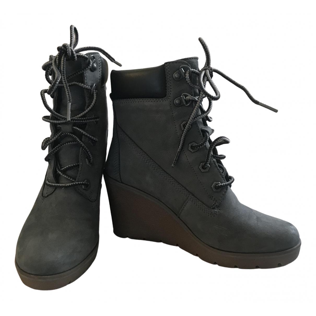 Timberland - Boots   pour femme en suede - gris