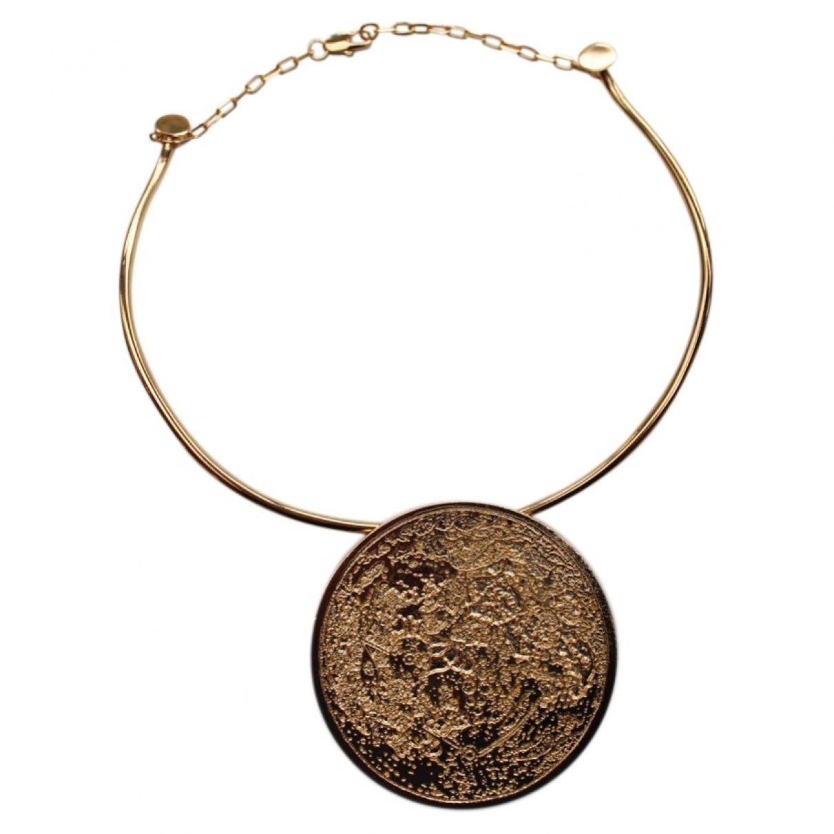 Carven - Collier   pour femme en metal - dore