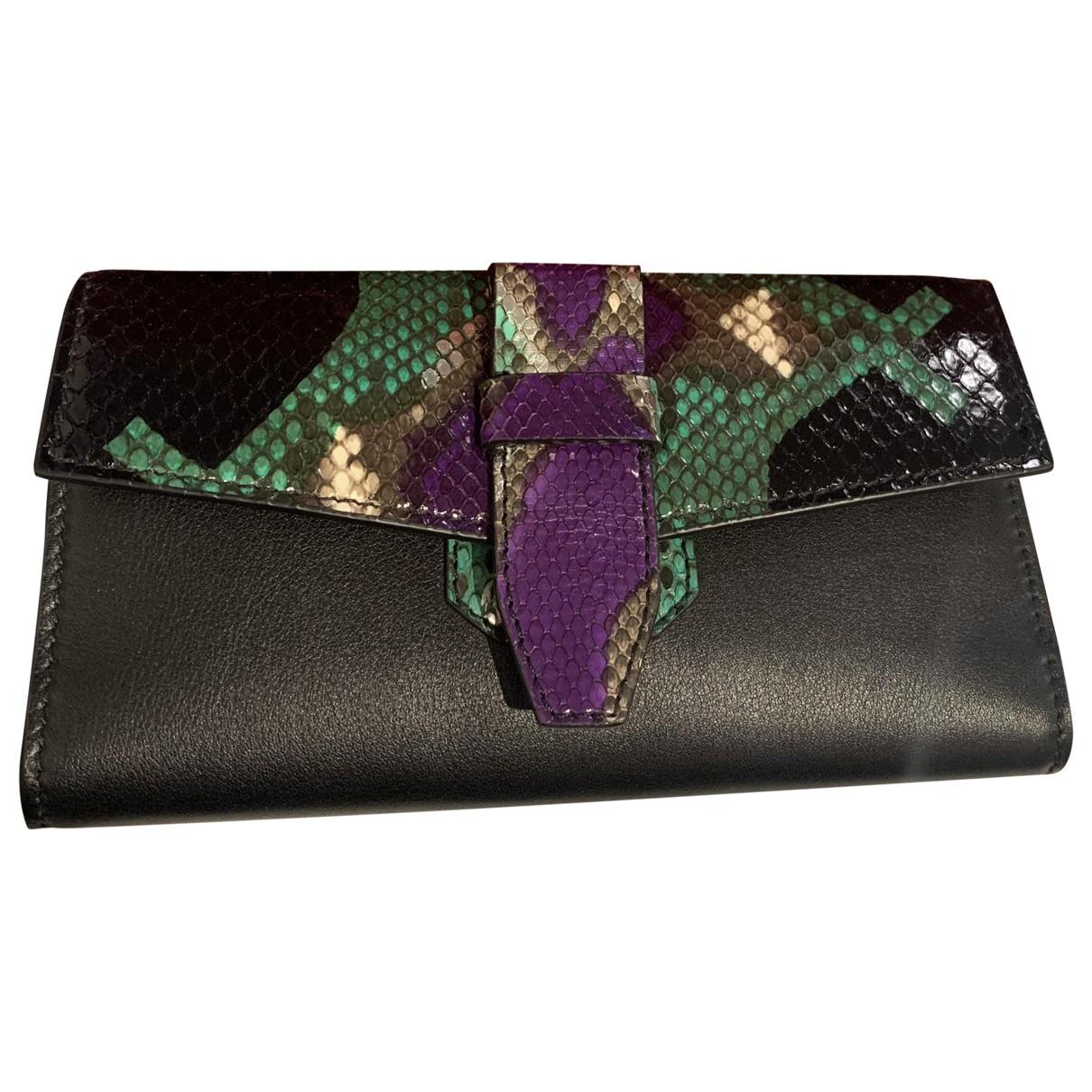 Lancel Charlie Black Python Clutch bag for Women \N