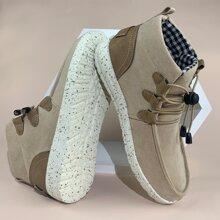 Sneakers mit Kordelzug Dekor