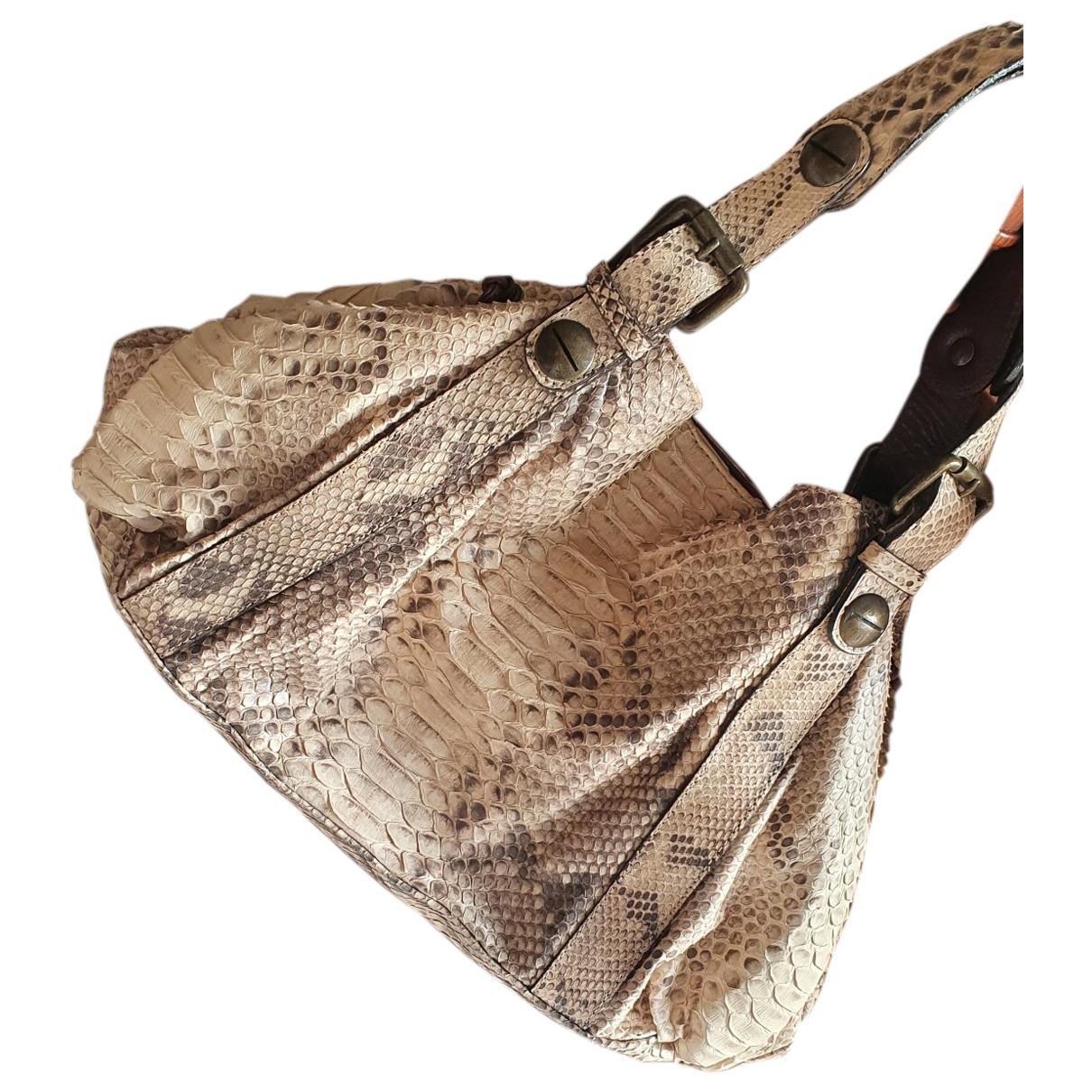 Gerard Darel 36 H Beige Python handbag for Women \N