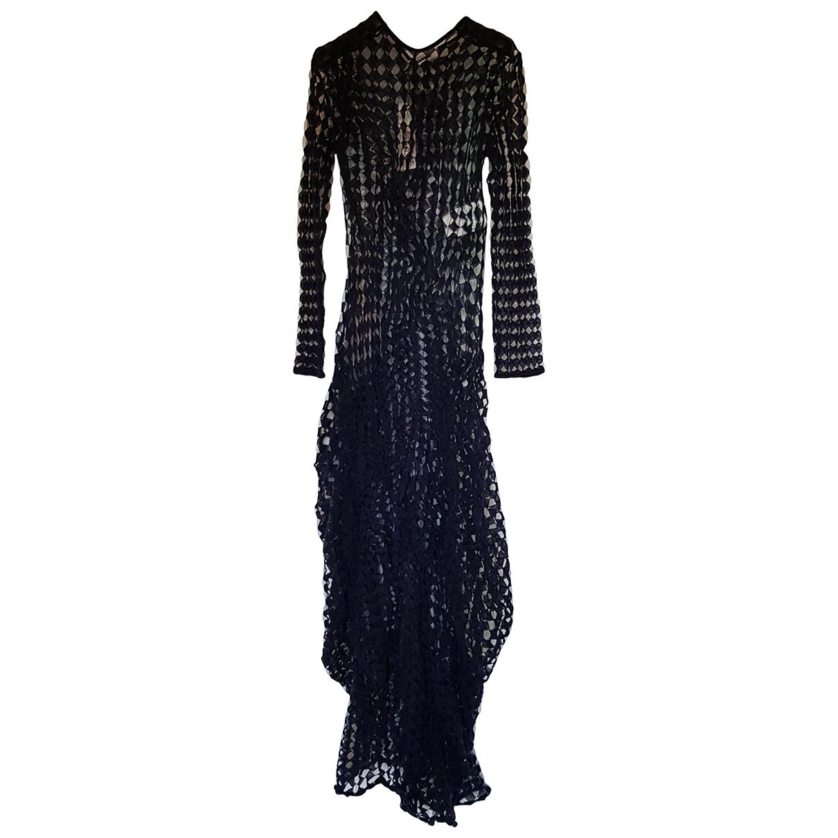 Jil Sander - Robe   pour femme en coton - elasthane - bleu