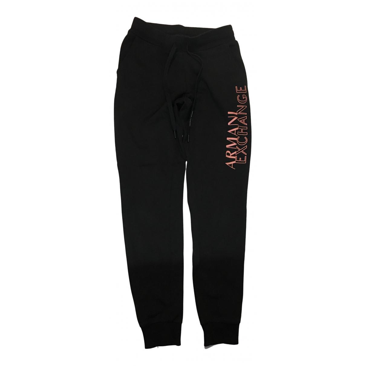 Emporio Armani \N Black Cotton Trousers for Women S International