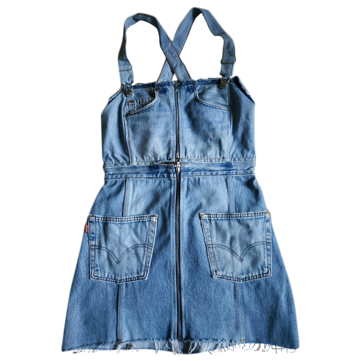 Re/done X Levis \N Kleid in  Blau Denim - Jeans