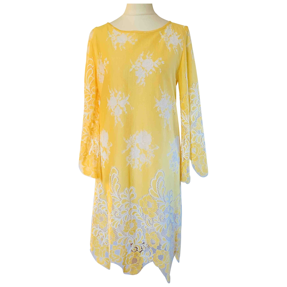 Valerie Khalfon \N Kleid in  Gelb Baumwolle