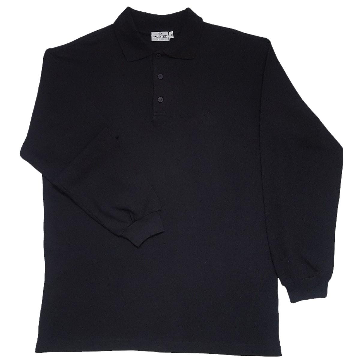 Valentino Garavani - Polos   pour homme en coton - noir