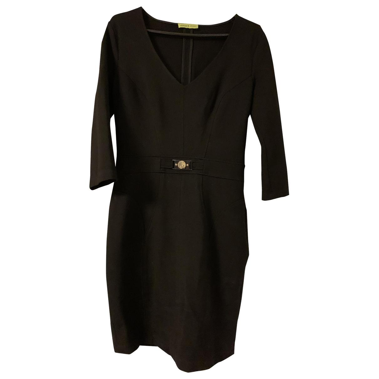 Versace Jean - Robe   pour femme en coton - elasthane - noir