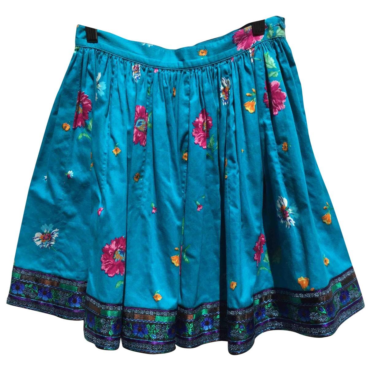 Kenzo - Jupe   pour femme en coton - multicolore