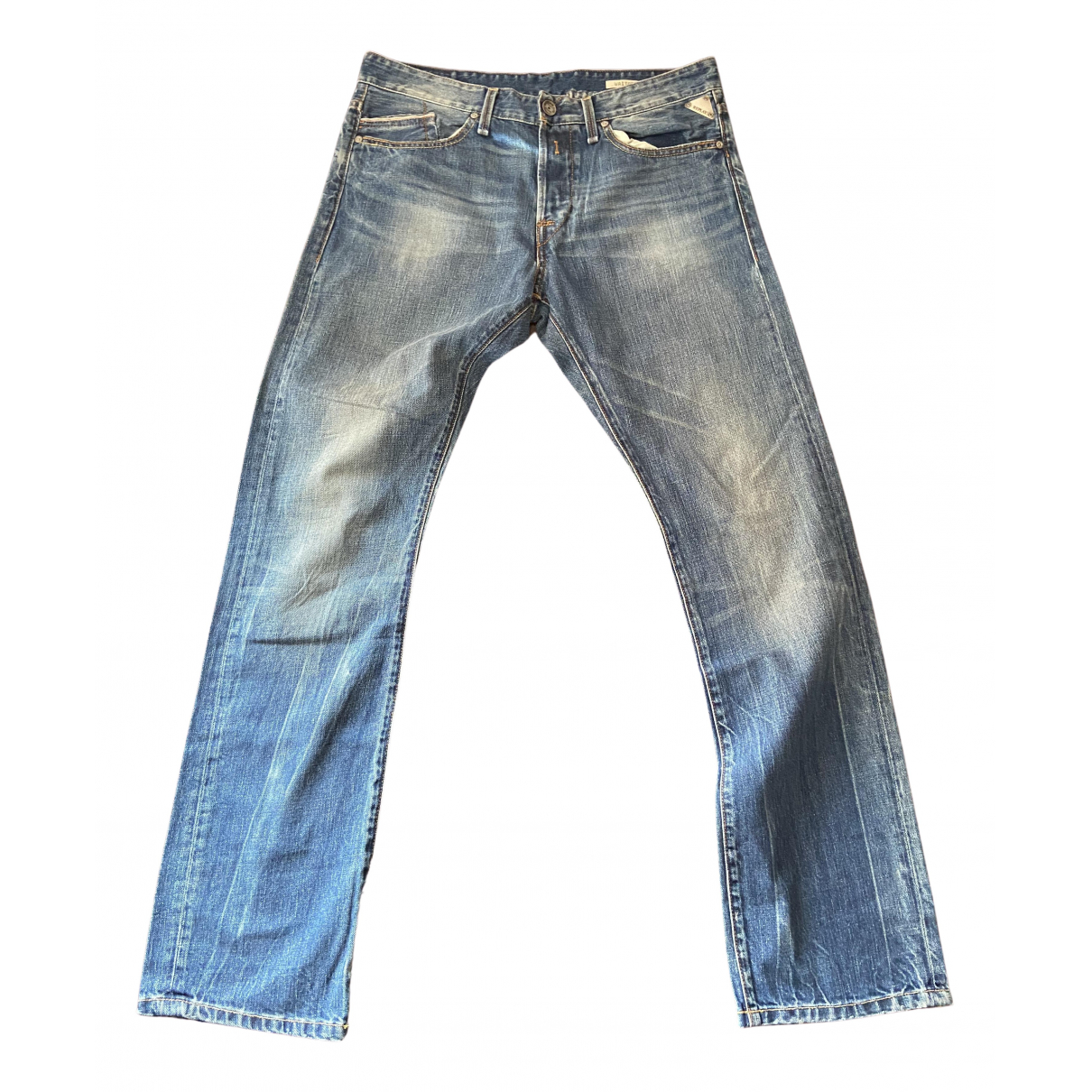 Replay N Blue Cotton Jeans for Men 33 US