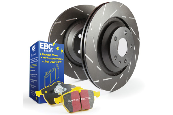 EBC Brakes S9KF1202 S9KF Kit Number Front Disc Brake Pad and Rotor Kit DP41871R+USR7555 Front